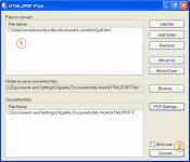 Screenshot programu HTML2PDF Pilot 2.16.96