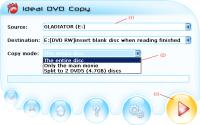 Screenshot programu Ideal DVD Copy 3.2.5
