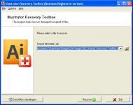 Screenshot programu Illustrator Recovery Toolbox 1.2.11.0