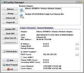 Screenshot programu IPConfig Manager 1.0