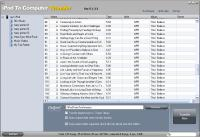 Screenshot programu iPod To Computer Transfer 7.5.8