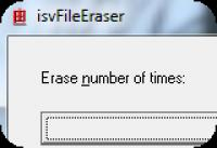 Screenshot programu isvFileEraser 1.0