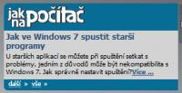 Screenshot programu Jak na počítač - gadget 1.0.0.0