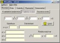 Screenshot programu JHmatika 2.4.1