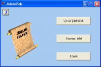 Screenshot programu Jídelníček  1.1