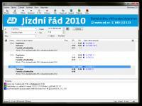Screenshot programu Jízdní řády 2009/2010