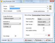 Screenshot programu JPEG Resampler 2010 6.4.3