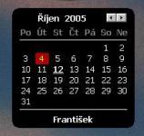 Screenshot programu Kalendář 0.1.21