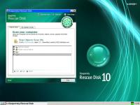 Screenshot programu Kaspersky Rescue Disk 10