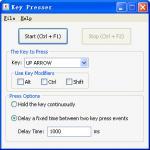 Screenshot programu Key Presser 2.1.6.4