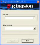 Screenshot programu Kingston Format Utility 1.0.3.0