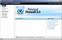 Screenshot programu Lavasoft Personal Firewall 3.0