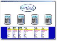 Screenshot programu LifeCALC 1.0
