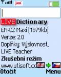 Screenshot programu LIVE Dictionary - anglický