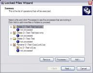 Screenshot programu Locked Files Wizard 2.03