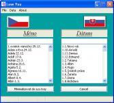 Screenshot programu Love you 1.0.0.7