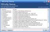 Screenshot programu MSConfig Cleanup 1.5