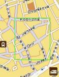 Screenshot programu Mapa Brna