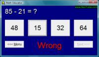 Screenshot programu Math Educator 1.30