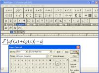 Screenshot programu MathType 6.7 a