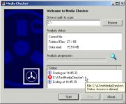 Screenshot programu Media Checker 2.03