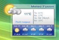 Screenshot programu Meteo-Fusion 1.5.9.11