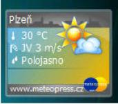 Screenshot programu Meteopress - Vista gadget 2.1