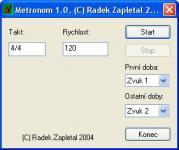 Screenshot programu Metronom 1.0