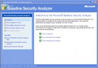 Screenshot programu Microsoft Baseline Security Analyzer 2.1
