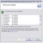 Screenshot programu Microsoft Malicious Software Removal Tool 5.31