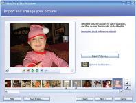 Screenshot programu Microsoft Photo Story 3.0