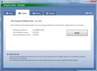 Screenshot programu Microsoft Security Essentials & ForeFront Client Security Definition Updates 1.147.390.0