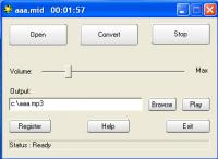 Screenshot programu MIDI to MP3 Maker 3.1.2