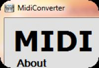 Screenshot programu MidiConverter 1.0