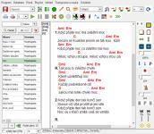 Screenshot programu Miraf SongBook 6.31