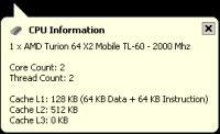 Screenshot programu MiTeC InfoDesk  7.8.0