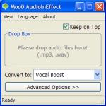 Screenshot programu Moo0 AudioEffecter 1.20