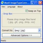 Screenshot programu Moo0 ImageTypeConverter  1.20