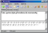 Screenshot programu Morseovka 3.0