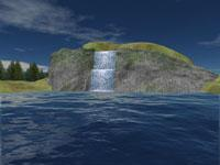 Screenshot programu Mountain Lake Waterfall Screensaver 1.0.1.2