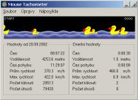Screenshot programu Mouse Tachometer 1.00.1