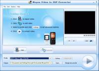 Screenshot programu Moyea Video to 3GP Converter  1.2.1.2