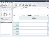 Screenshot programu Mozilla Sunbird 0.9 Portable
