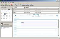 Screenshot programu Mozilla Sunbird 0.9