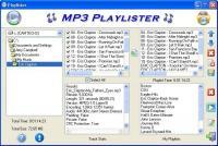Screenshot programu MP3 Playlister 1.0