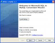 Screenshot programu MSSQL-to-MySQL 6.3
