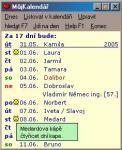 Screenshot programu Můj kalendář 2.4
