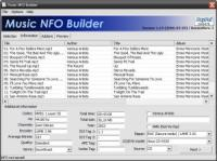 Screenshot programu Music NFO Builder 1.20