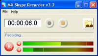 Screenshot programu MX Skype Recorder 4.3.0