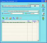 Screenshot programu Myspace Video Downloader 3.21